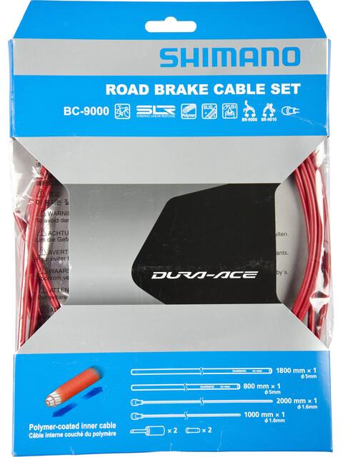 Shimano Dura-Ace BC-9000 Bremszug-Set polymerbeschichtet rot